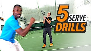5 SIMPLE Serve Drills to improve Consistency, Accuracy & Power