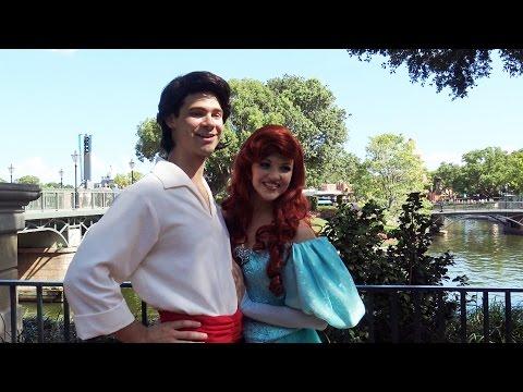 Princess Ariel & Prince Eric - The Little Mermaid - Meet and Greet - Disney PhotoPass Day - Epcot thumbnail