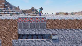 Minecraft: Invisible TNT Minecart Trap #Shorts
