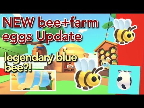 New Bee Update Roblox Adopt Me New Legendary Bee Pet Farm Eggs Coming To Adopt Me Update Roblox Youtube