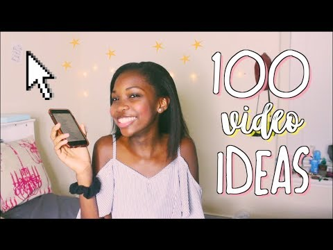 100+ Video Ideas for ANY Youtuber! // popular video ideas