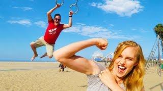 Swinging in Santa Monica!