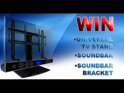 Mount Your Soundbar Under A Swiveling Universal Tv Stand Youtube