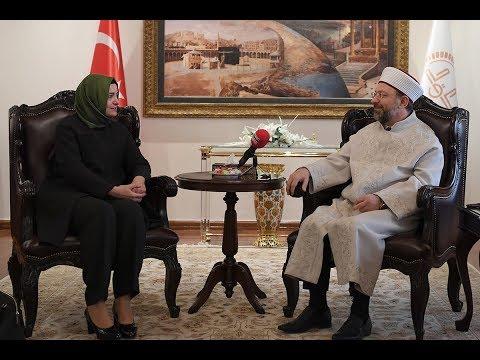 Aile ve Sosyal Politikalar Bakanı'ndan Diyanet'e ziyaret