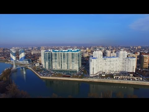Краснодар с высоты птичьего полета / день ночь / Krasnodar city