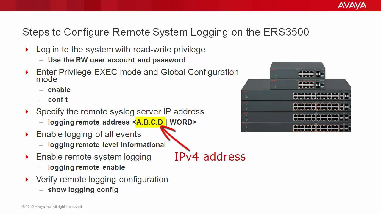 Avaya Ethernet Switch 3500 Diagram Schematic Diagrams Wiring Cadet Cub Kohler Diagram1541 How To Configure Remote System Logging On The Ers3500 Youtube