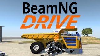 BeamNG Drive Dump Truck Runs Over Van