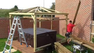 3m Gazebo Build over Hot Tub in Trowbridge Wilts
