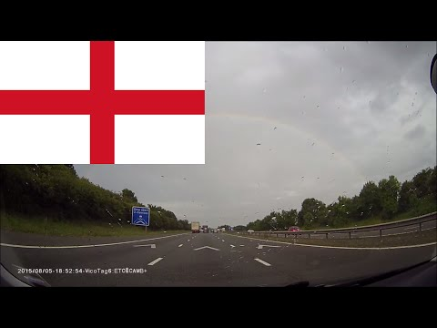 Driving in England -- From Stratford-upon-Avon to Cambridge 2 hours