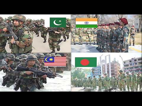 Pakistan & Malaysia VS India & Bangladesh Military Power Comparison 2016-2017