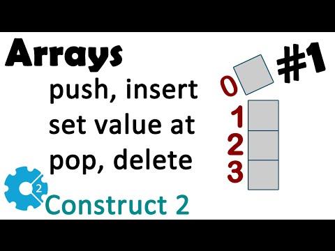 Construct 2 Array plugin - #1 trabalhando com arrays