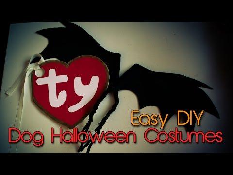 Dog Halloween Costumes   DIY   Bat Wings & Beanie Baby Tag   Creation in Between