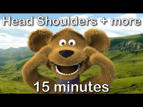 Head Shoulders Knees and Toes|15 minutes compilation from tinyschool!