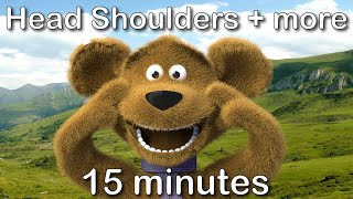 Head Shoulders Knees and Toes | 15 minutes compilation from tinyschool! thumbnail