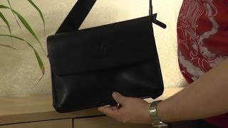Сумка кожаная мужская. Заказ на ebay. Обзор. Leather bag for men.
