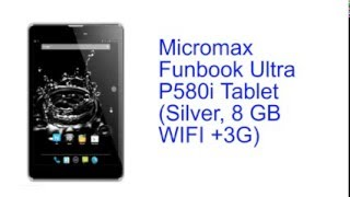 Micromax Funbook Ultra P580i Specification [INDIA]