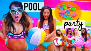 Summer POOL PARTY! DIY decor, treats, ideas + things to do | Niki and Gabi