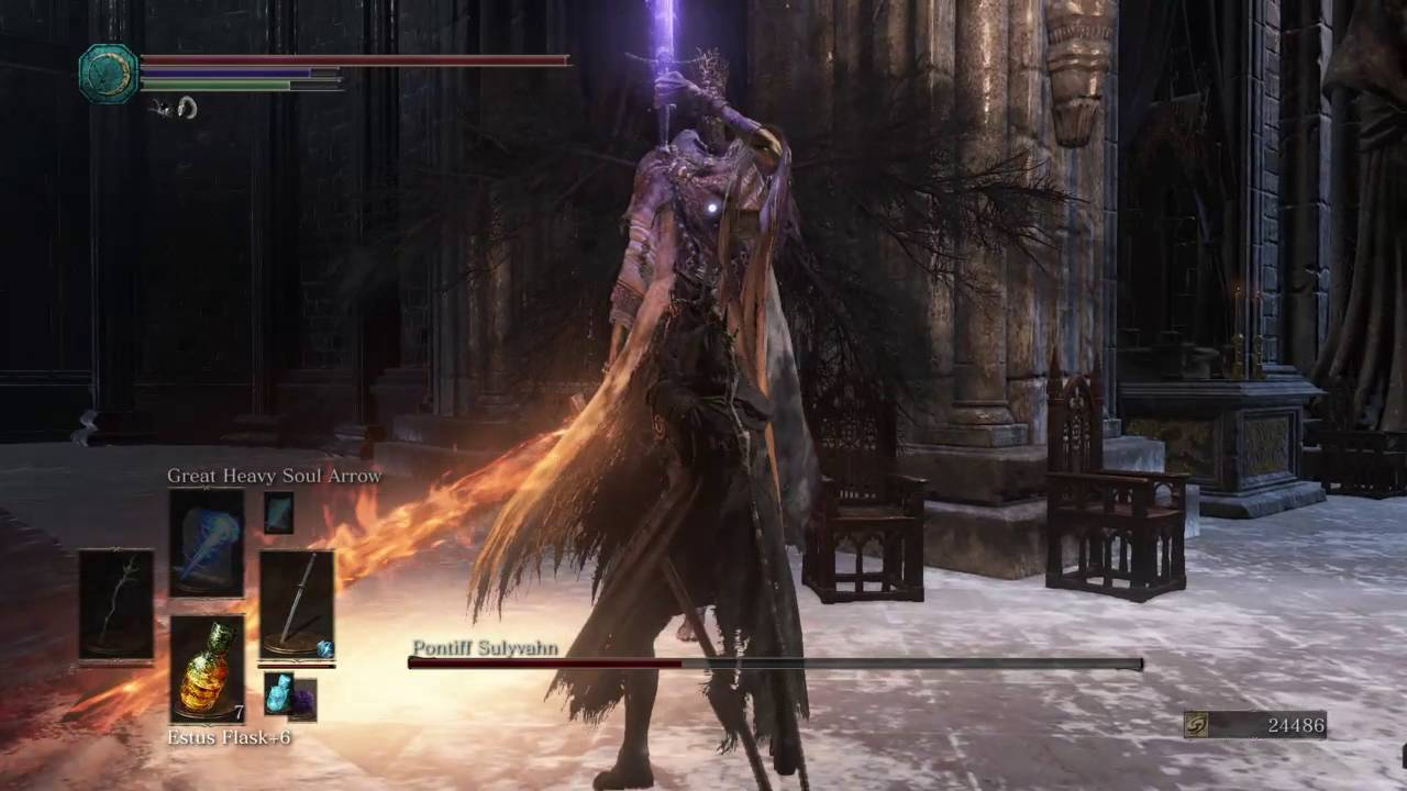 Dark Souls 3 - Vs  Pontiff Sulyvahn (Dex/Int Build)