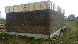 Баня из монолитного арболита..Заливаем первый этаж. 2016 год(Поднимаем стену бани из монолитного арболита.в 2016 подняли первый этаж.ждем весну и будем поднимать 2 этаж...., 2017-01-17T19:16:21.000Z)