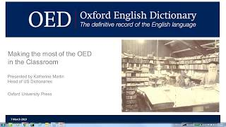 Download Making the most of the Oxford English Dictionary in the classroom (US version)