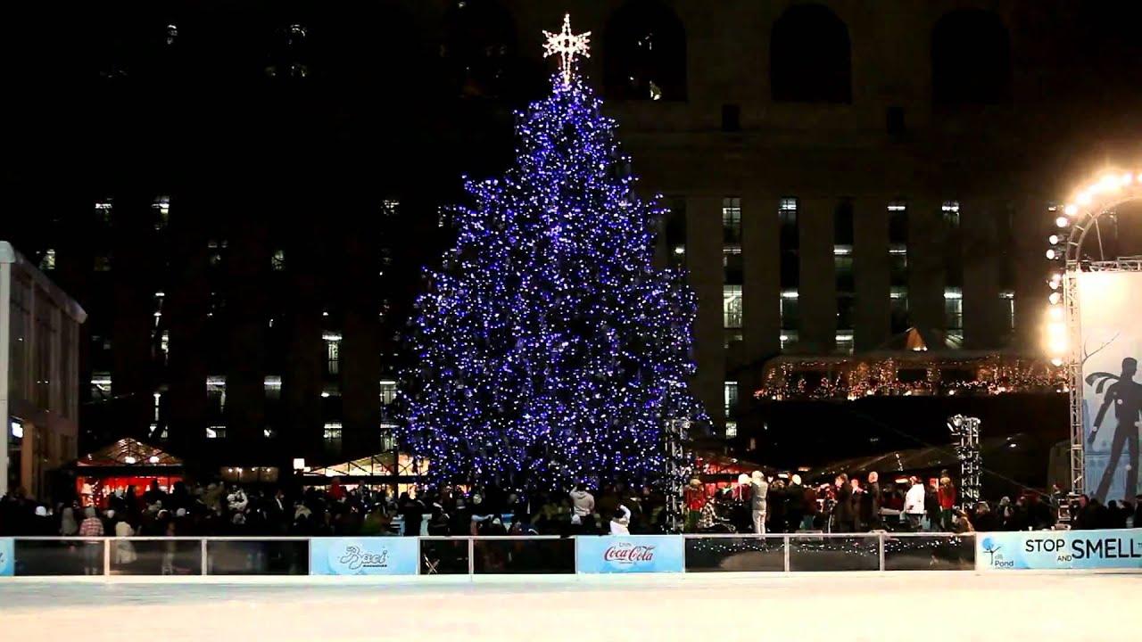 Bryant Park Christmas.Bryant Park Christmas Tree Lighting 2010