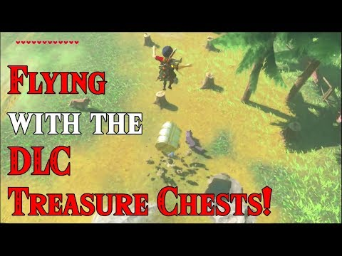 Flying with the DLC Treasure Chests! BAD DOGS in Zelda Breath of the Wild DLC
