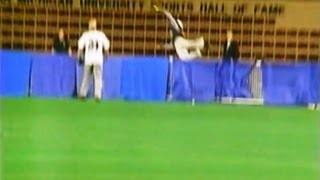 BEST BASEBALL SOFTBALL CATCH EVER - GUY GOES OVER FENCE