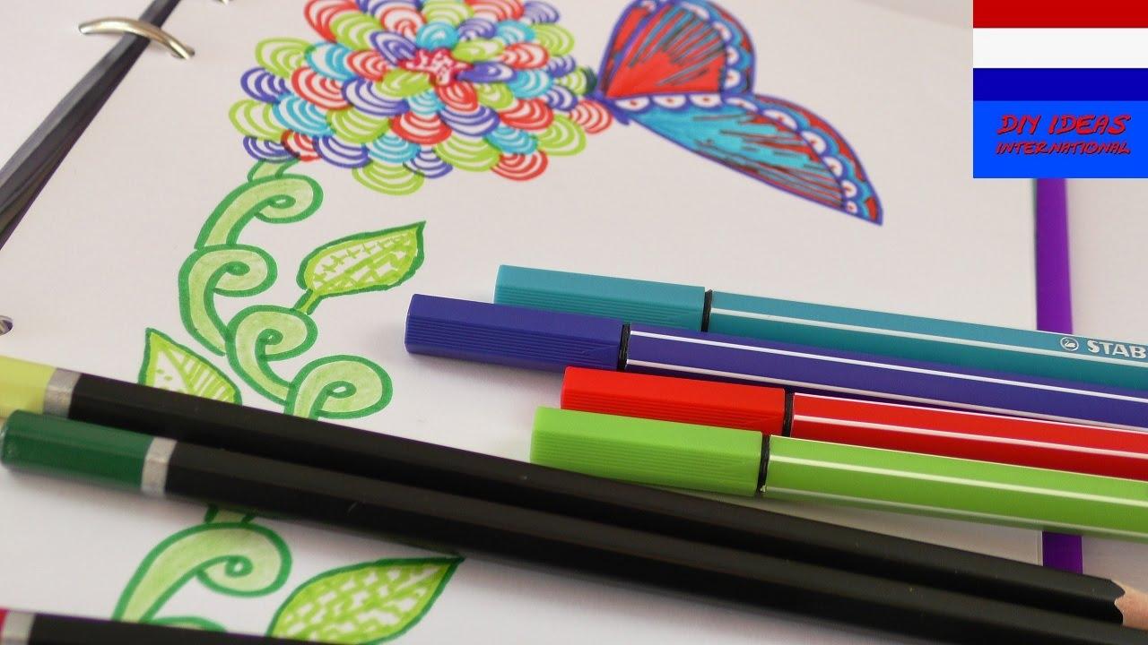 Kleuren tekenen in de lente prachtige bloemen for Ontruimingsplattegrond zelf tekenen