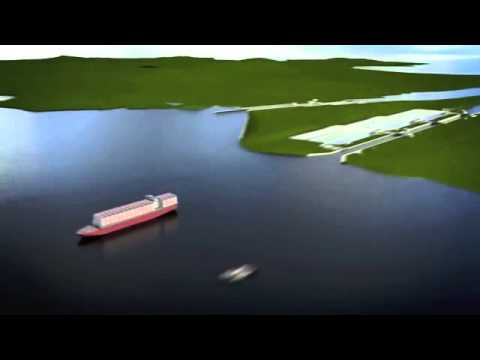 This is how the expanded Panama Canal works - animation