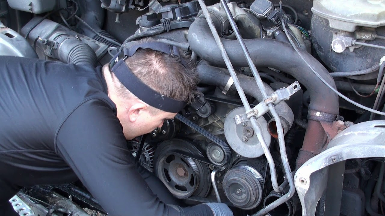 How To Change water Pump and Tensioner Pulley Step by step On T1N Mercedes Sprinter