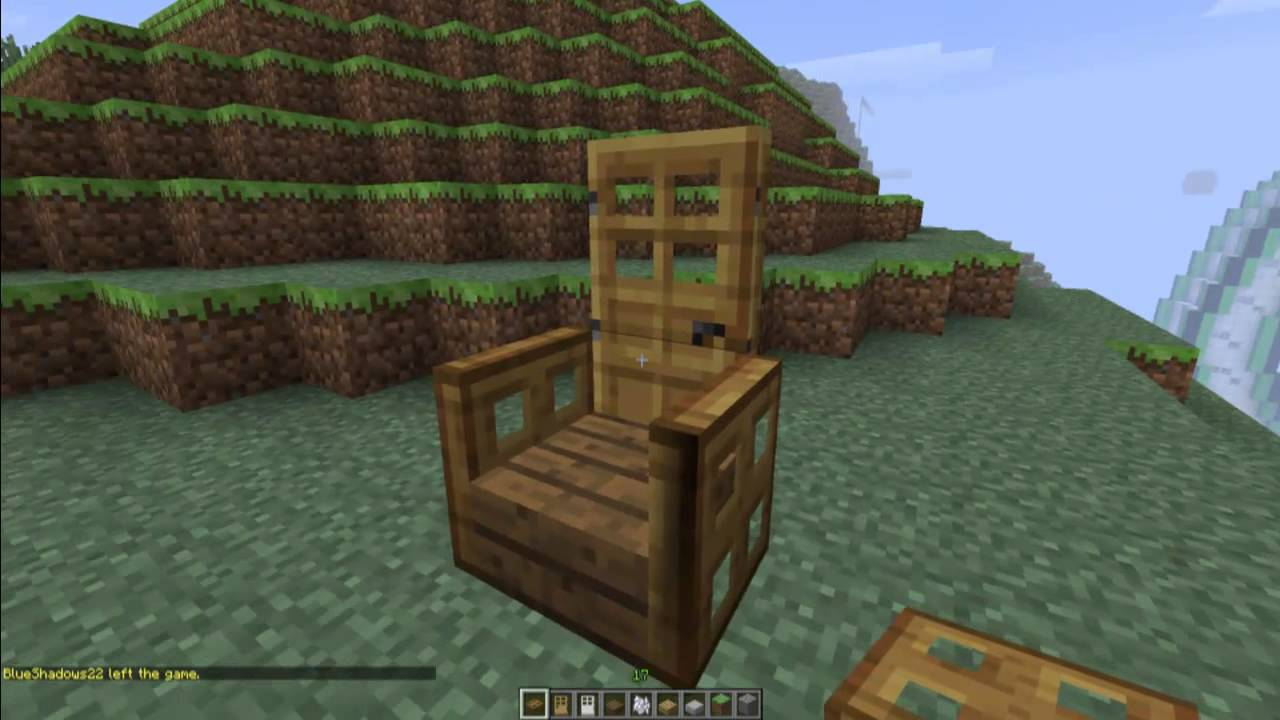 How To Make Advanced Chairs In Minecraft Minecraft Furniture Series Youtube