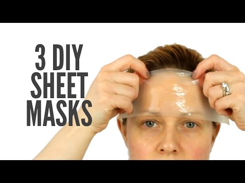 3 SUPER SIMPLE DIY SHEET MASKS | How to make your own sheet mask!