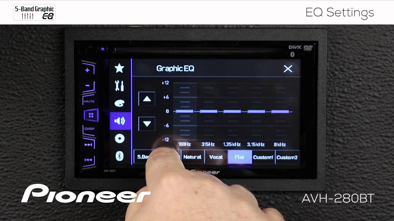 How To Avh 280bt Eq Settings Youtube Pioneer P3100dvd Parking Brake Bypass