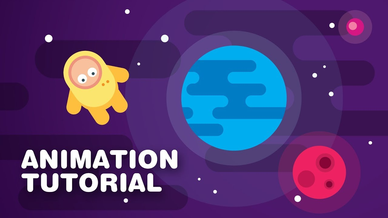 Line Art Animation After Effects : Characters in space animation after effects tutorial