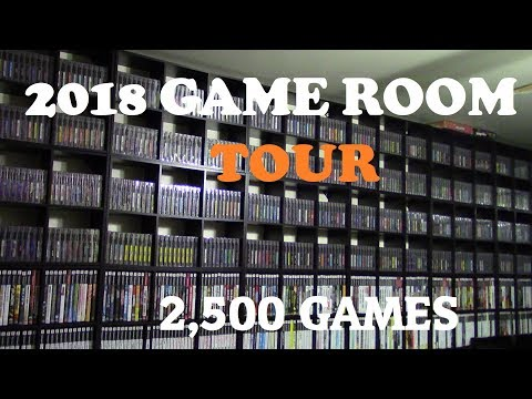 2018 Video Game Room Tour! 2500 games. Gamer Wayne