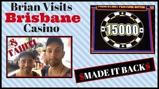 Brian gets REDEMPTION in Australia ✦ BRISBANE Edition ✦ Slot Machine Pokies at The Treasury Casino