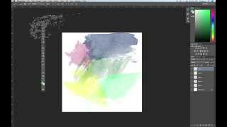 Using Watercolor Brushes in Photoshop