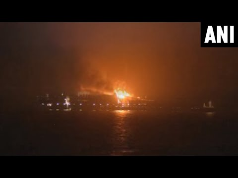 Maersk Container ship catches fire, 4 missing