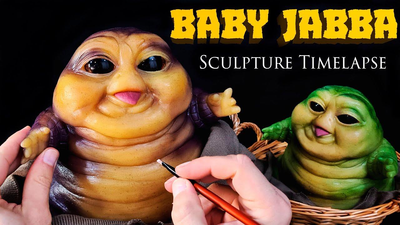 Baby Jabba Sculpture Timelapse - Star Wars