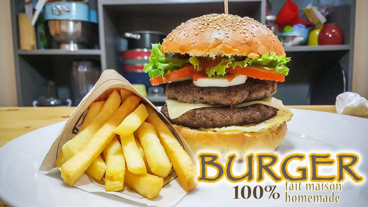 Burger Double Steak 100% fait maison - YouTube
