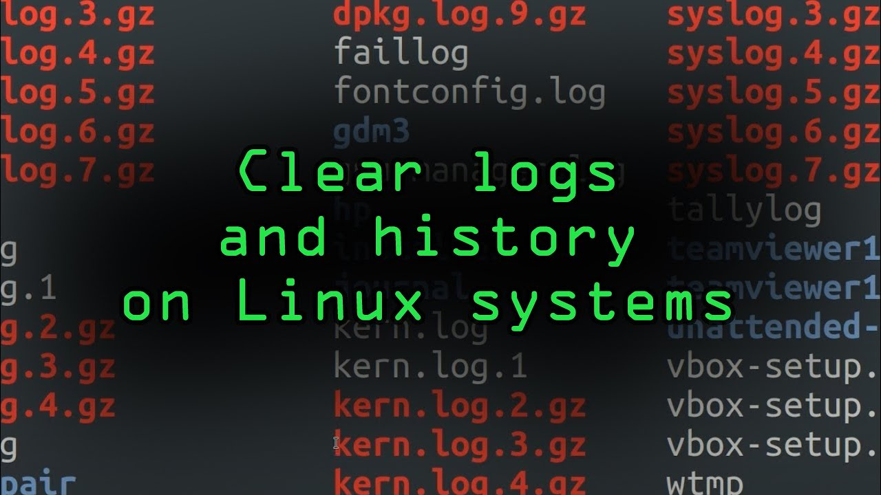 Clear the Logs & History on Linux Systems to Delete All Traces You Were There [Tutorial]