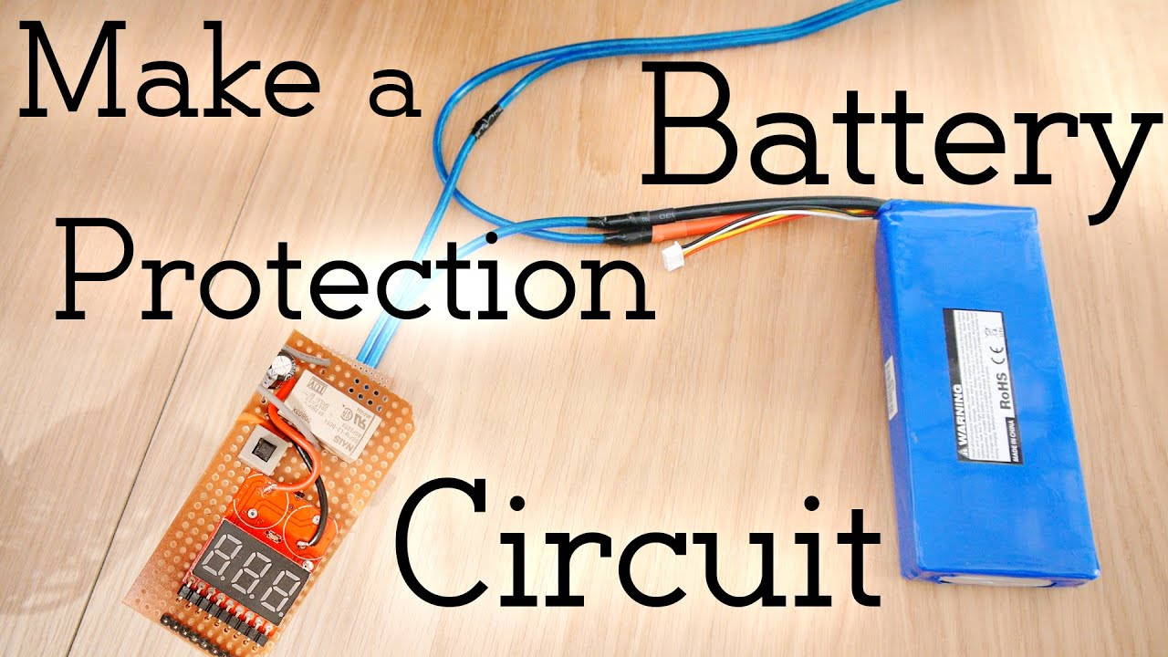 How To Make A Battery Protection Circuit Over Discharge 36v Motorcycle Wiring Diagram Youtube
