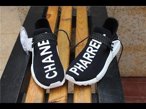 sports shoes 6e6f8 48885 Chanel x Pharrell Williams x adidas NMD Black HD Review