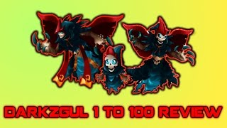 Monster Legends - Darkzgul Review 1 to 100 + Combat + other monster legends Youtuber's to watch