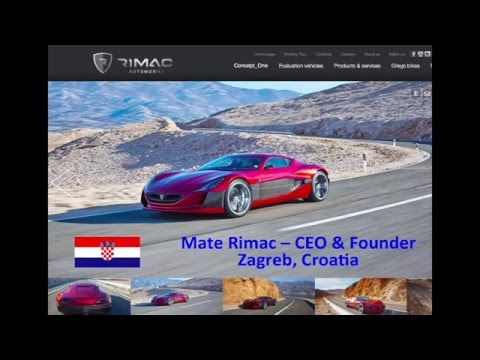 Croatia :: Mate Rimac - Rimac Automobili - Electric Car Startups - Jan 11 2016