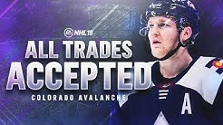 ACCEPTING ALL TRADES with the COLORADO AVALANCHE | NHL 19 Franchise Mode Challenge
