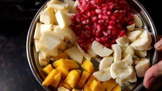 घर पर फ्रूट क्रीम बनाने का परफेक्ट तरीका   Fruit Cream Recipe
