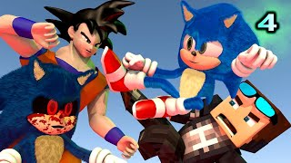 SONIC THE HEDGEHOG MOVIE IN MINECRAFT 4! Ft. Goku & Baldi (Official) Minecraft Animation Game