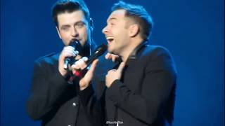 Westlife Mistakes on Stage Video