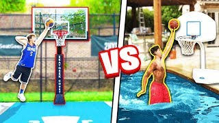 CRAZY 2HYPE Pool + Mini Hoop Dunk Contest! ft. DDG & Randall Twins